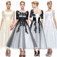 Long Mother of the Bride Evening Dress Party Formal Cocktail Ball Gown Prom New