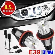 2x Angel Eyes White 7W LED Halo Ring Fog lights For 2000-2008 BMW E39 E53 E60