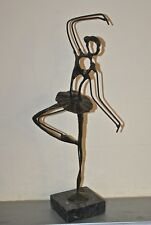 Bronze ballerina statue Modern art Giacometti style