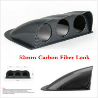 """Universal 2"""" Car Carbon Fiber Triple Dash Gauge Meter Pod Dashboard Mount Holder"""