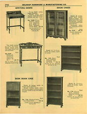 1932 PAPER AD 2 PG Book Case Cases Sectional Glass Front Grand Rapids Macey