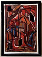 Rare huile sur toile de Georges Carrey(1902-1953), Van Velde, Parker,