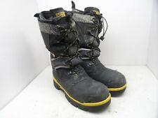 DAKOTA Men's 8530 Steel Toe Steel Plate Safety Winter Felt Pack Boot Black 10 M