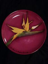 Bird of Paradise Designer Plate LaFleurs de Parfums Givenchy Exquisite Vibrant