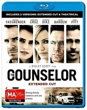THE COUNSELOR New Blu-Ray (2 Disc) MICHAEL FASSBENDER ***