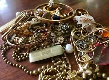 Vintage Antique Junk Jewelry Lot ~ Some GOLD fill Plate Most Unmarked