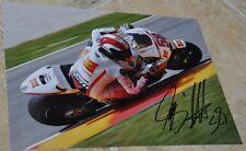 "Marco Simoncelli firmado 11"" X 8"" Color Foto San Carlo MotoGP 58 Sic"