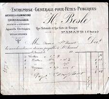"""SAINT-AMAND-MONTROND (18) QUINCAILLERIE / PYROTHECNIE """"H. BESLE"""" en 1890"""
