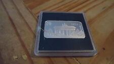 Lingotto Argento Argento 999 Porta di Brandeburgo, 15,55g 2 dollari isole Salomone