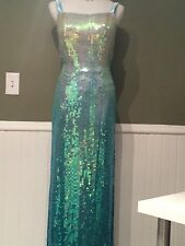 CACHE 100% Silk Long,Open Back Cocktail  GOWN,MAXI DRESS ,Size 6