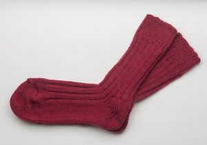 Irish Wool Socks - Merlot  - Size M = UK 4-7  (EUR 37-41  /  US 5.5 -8.5)