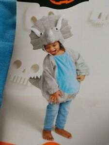 Baby Triceratops Costume , Dinosaur Babies Halloween Outfit , 0-6 Months NWT