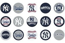 15 Pre-Cut New York Yankees 1 Inch Bottle Cap Images