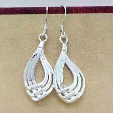 Hot Women 925 Silver Plated Hoop Dangle Earring Studs Jewelry Fashion