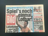 BILD ZEITUNG 12. Juni 1990 WM 1990 Deutschland vs. Jugoslawien 4:1 + FRITZ HONKA