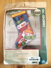 Dimensions Freezin Season Snowman Stocking Needlepoint Kit Debra Jordan Bryan
