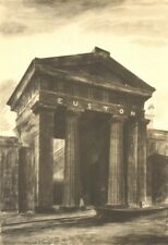 LONDON. Doric Arch, Euston Station, NW1. By Barbara Jones 1946 old print