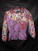 Vintage Asics M L Austria Olympic Ski Team Coat Austrian Jacket Purple Pink