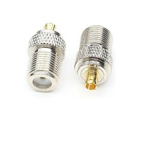 F female to MCX male RF coaxial adapter connector x1         957