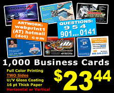 LOOK 1000 BUSINESS CARDS - Full Color UV Gloss Personalized Custom Must See!!!