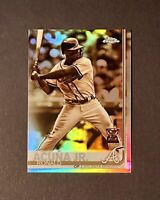 2019 Topps Chrome Ronald Acuna Jr Sepia Refractor Gold Rookie Cup #117 Braves