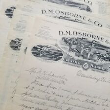 'D. M. Osborne Harvesting Machinery' 1902 Letterheads: 171 PIECES - Agriculture