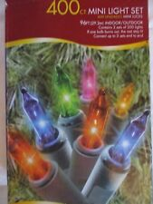 Holiday Time 400 Mini Multi-Color Light Set - New