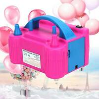 Portable 600W Electric Air Balloon Pump 2Nozzle Automatic Inflato Nozzle Party