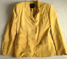 Jean Paul Gaultier Gorgeous Fitted Jacket Yellow Size 10 100% Silk, Rare Vintage