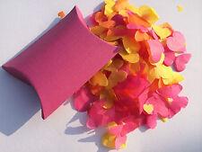 Biodegradable Confeti de boda Rosa Marfil Corazones & Mariposa Individual Cajas