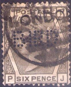 GREAT BRITAIN - VICTORIA QUEEN - RARO FRANCOBOLLO DA 6 PENCE - 1872 - PERFIN