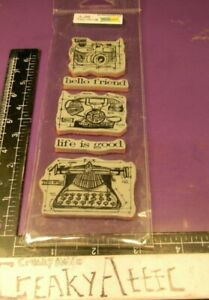 VINTAGE PHONE CAMERA TYPEWRTER  CLING RUBBER STAMPS STAMPERS ANONYMOUS TIM HOLTZ