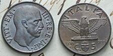 1938  Regno D'Italia  5 centesimi Impero  FDC