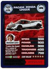 Pagani Zonda Cinque #403 Top Gear Turbo Challenge Rare Trade Card (C362)