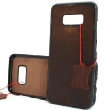 Genuine leather Case f Samsung Galaxy S8 magnetic soft rubber holder car silicon