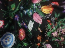 GUCCI PRINT ON POLY SILK SATIN MADE IN ITALY CENTIMETER 170 X 150 LITTLE USED