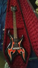 BC RICH Warlock Red and Black 6 String Guitar
