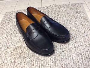 Allen Edmonds Cavanaugh Black Leather Loafers 13 D Retail $295
