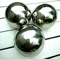 3  x  Edelstahl 8 cm Miniteich Dekokugel Glaskugel Kugeln Schwimmkugeln Silber