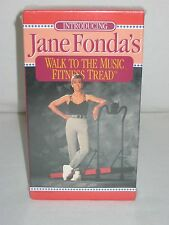 Vintage Exercise VHS Tape Jane Fonda Walk to the Music Fitness Tread 1994 NOS