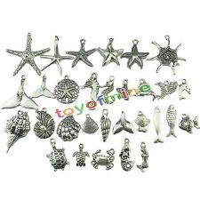 30x Beach Sea Horse Starfish Shell Snail Conch Crab Mermaid Turtle Whale Pendant