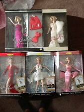 Marilyn Monroe Collector Edition Barbie Dolls Lot of 5 NRFB