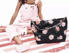 Victoria's Secret Limited Edition Weekender Tote Bag Black/Pink Flower