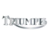 2 x SILVER - TRIUMPH - Motorbike Tank Decal Stickers