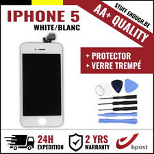 AA+ LCD TOUCH SCREEN/SCHERM/ÉCRAN WHITE BLANC & VERRE TREMPÉ +TOOLS FOR IPHONE 5