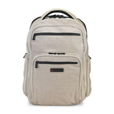 "ECBC Hercules 17"" Laptop Computer Linen Travel Backpack TSA - K7102-55 - Beige"