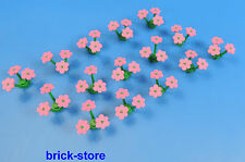 LEGO pink flowers / Plants / 15 Pieces