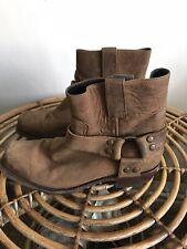Sendra Heavy Duty Brown  Leather Biker Harness Western Cowboy Boots 40 Uk 6.5 ?