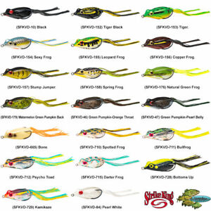 Strike King Sexy Frog (SFKVD) Topwater Hollow Body Fishing Lures Any 20 Colors