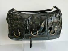 CH Patent leather black Russel & Bromley shoulder bag with buckle details